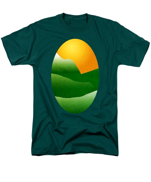 Green Mountain Sunrise Landscape Art Men's T-Shirt  (Regular Fit) by Christina Rollo