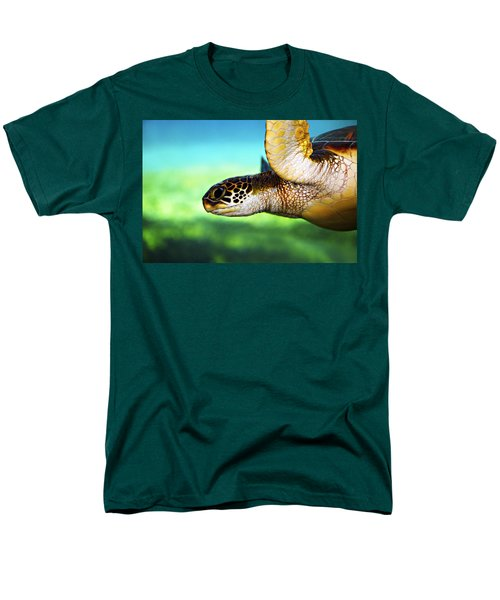 Men's T-Shirt  (Regular Fit) featuring the photograph Green Sea Turtle by Marilyn Hunt