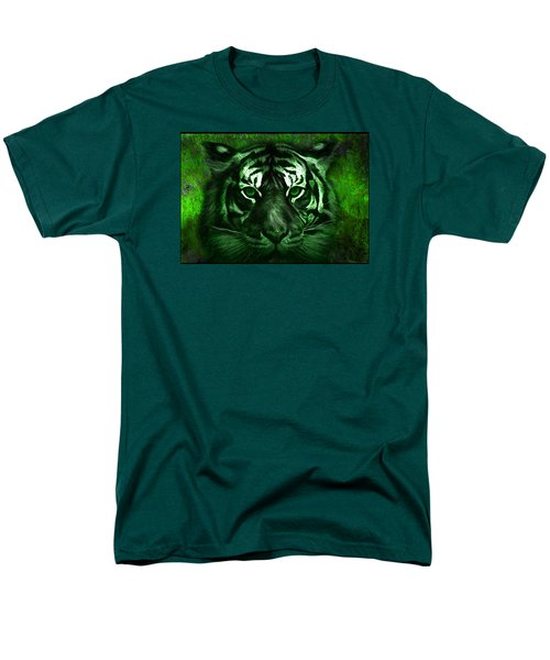 Green Tiger Men's T-Shirt  (Regular Fit) by Michael Cleere