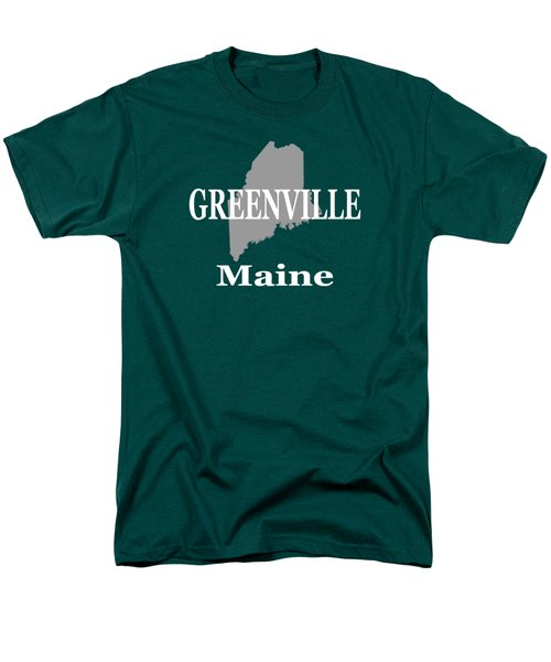 Men's T-Shirt  (Regular Fit) featuring the photograph Greenville Maine State City And Town Pride  by Keith Webber Jr