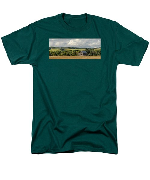 Men's T-Shirt  (Regular Fit) featuring the photograph Grey Barn by Dan Traun
