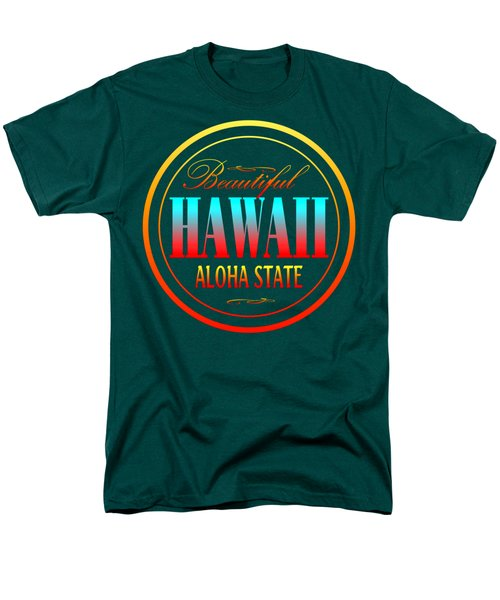 Hawaii Aloha State - Tshirt Design Men's T-Shirt  (Regular Fit) by Art America Gallery Peter Potter