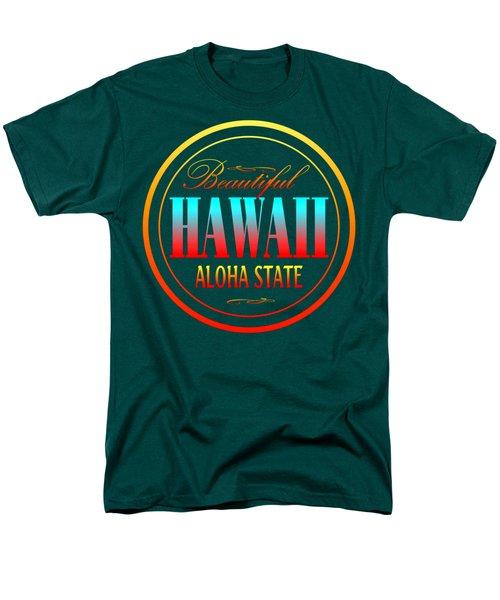 Hawaii Aloha State Design Men's T-Shirt  (Regular Fit)