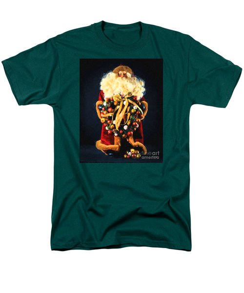 Men's T-Shirt  (Regular Fit) featuring the painting Here Comes Santa by Chris Armytage