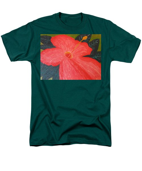 Hibiscus Men's T-Shirt  (Regular Fit) by Barbara Yearty