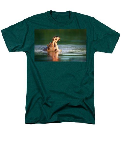 Hippopotamus Men's T-Shirt  (Regular Fit) by Johan Swanepoel