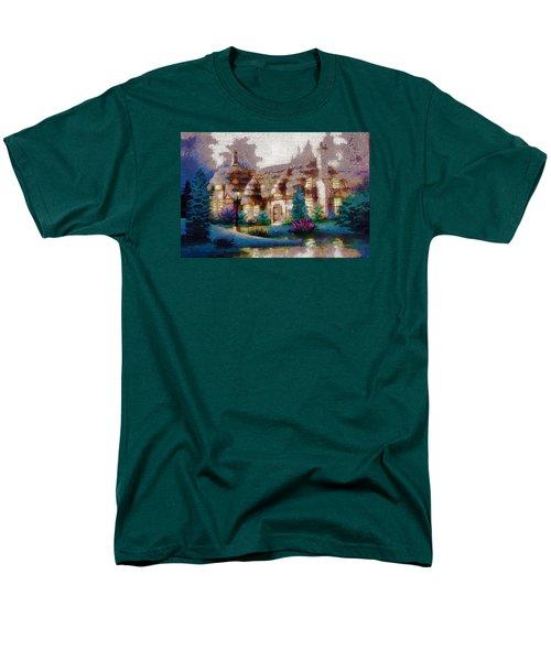 Men's T-Shirt  (Regular Fit) featuring the painting Home In Paradise by Mario Carini