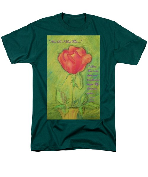 Men's T-Shirt  (Regular Fit) featuring the drawing How Do I Love Thee ? by Denise Fulmer