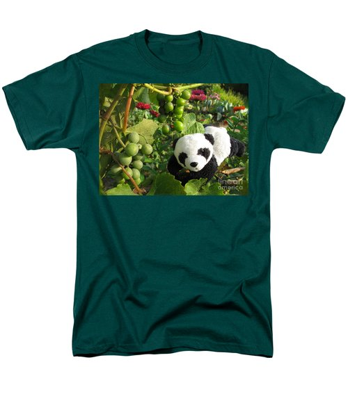 Men's T-Shirt  (Regular Fit) featuring the photograph I Love Grapes B by Ausra Huntington nee Paulauskaite