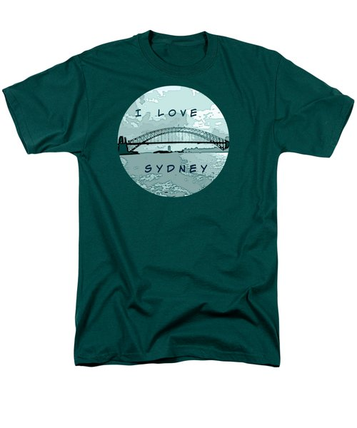 Men's T-Shirt  (Regular Fit) featuring the photograph I Love Sydney by Leanne Seymour