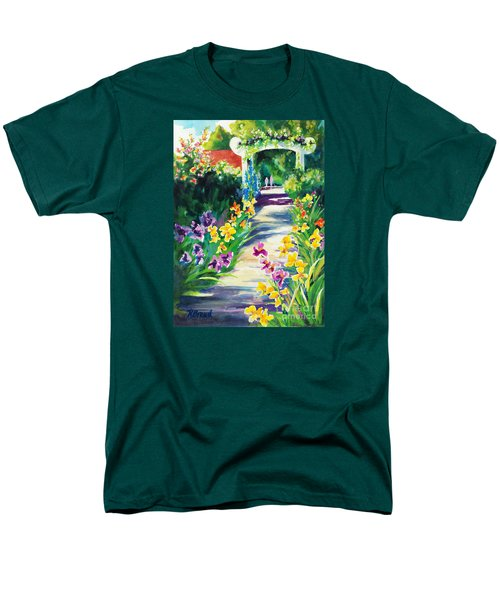 Iris Garden Walkway   Men's T-Shirt  (Regular Fit) by Kathy Braud