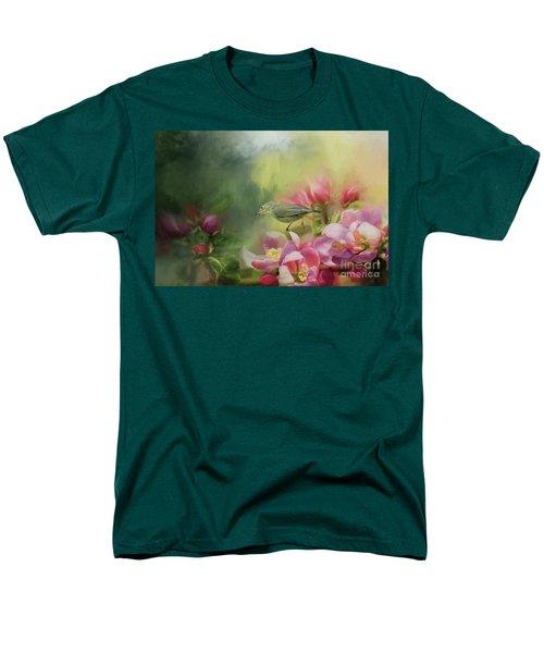 Japanese White-eye On A Blooming Tree Men's T-Shirt  (Regular Fit) by Eva Lechner
