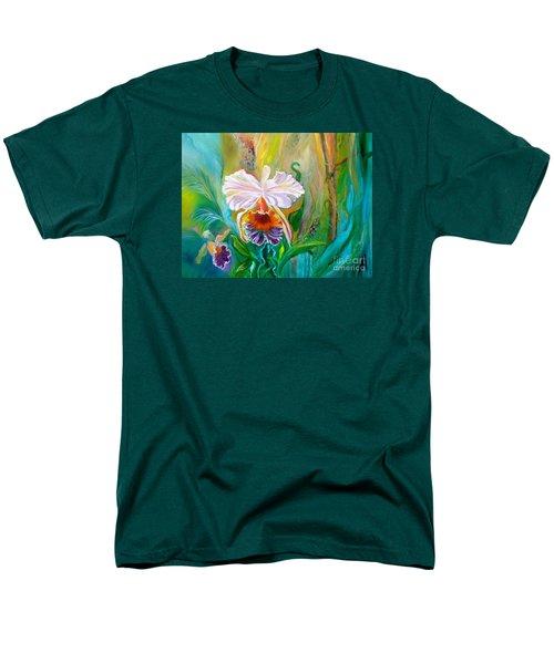 Jungle Orchid Men's T-Shirt  (Regular Fit) by Jenny Lee
