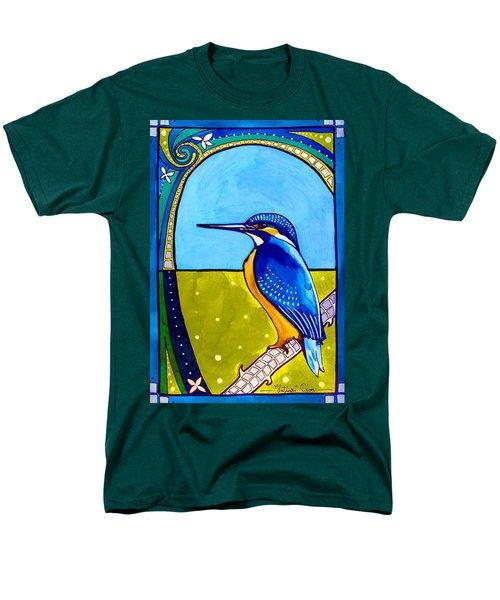 Kingfisher Men's T-Shirt  (Regular Fit) by Dora Hathazi Mendes