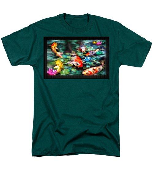Koi Paradise Men's T-Shirt  (Regular Fit) by Susan Kinney