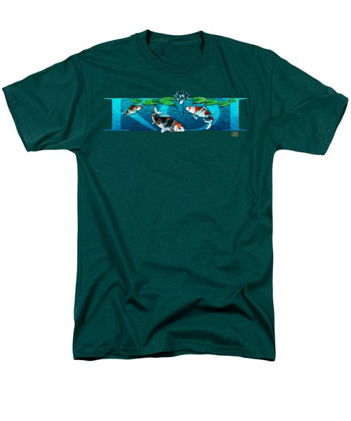 Koi With Type Men's T-Shirt  (Regular Fit) by Rob Corsetti