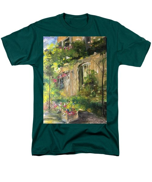 La Maison Est O Le Coeur Est Home Is Where The Heart I Men's T-Shirt  (Regular Fit) by Robin Miller-Bookhout