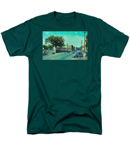 Men's T-Shirt  (Regular Fit) featuring the photograph Laconia N H Colored Pencil by Mim White