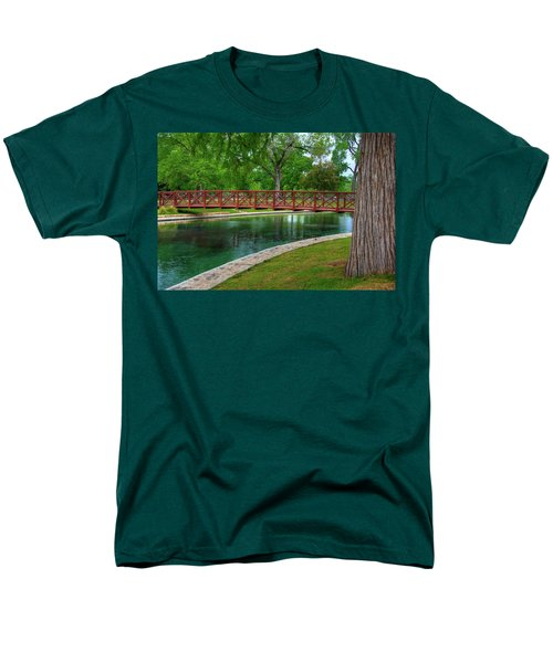 Landa Park Bridge Men's T-Shirt  (Regular Fit) by Kelly Wade