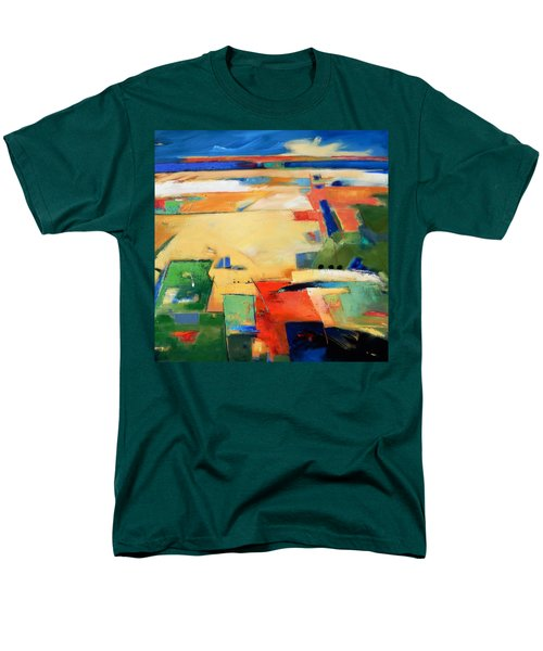 Men's T-Shirt  (Regular Fit) featuring the painting Landforms, You've Never Been Here by Gary Coleman