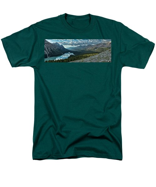 Men's T-Shirt  (Regular Fit) featuring the photograph Last Rays Of Light Over Peyto Lake by Sebastien Coursol