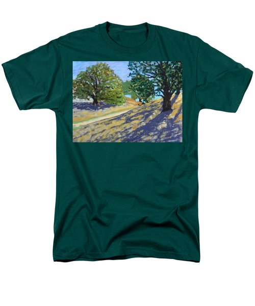 Men's T-Shirt  (Regular Fit) featuring the painting Late Light's Shadows by Gary Coleman