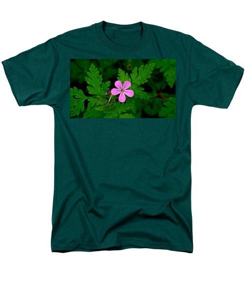 Little Purple Flower Men's T-Shirt  (Regular Fit) by Karen Molenaar Terrell