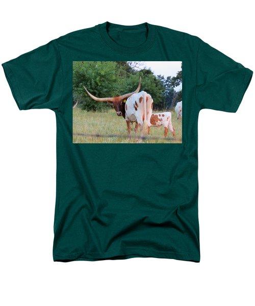 Longhorn Cattle Men's T-Shirt  (Regular Fit) by Robin Regan