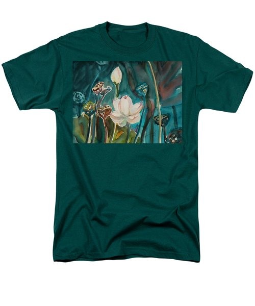 Men's T-Shirt  (Regular Fit) featuring the painting Lotus Study I by Xueling Zou