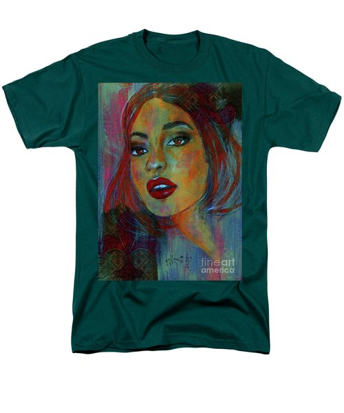 Men's T-Shirt  (Regular Fit) featuring the painting Lourdes At Twilight by P J Lewis