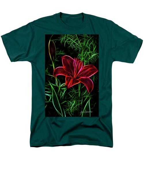 Luminous Lily Men's T-Shirt  (Regular Fit) by Joann Copeland-Paul