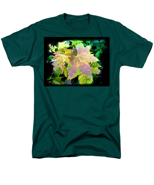 Men's T-Shirt  (Regular Fit) featuring the mixed media Lush Spring Foliage by Will Borden