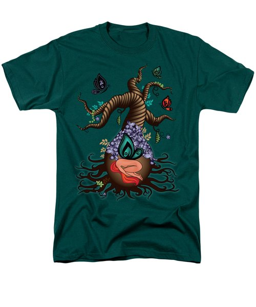 Magic Butterfly Tree Men's T-Shirt  (Regular Fit) by Serena King