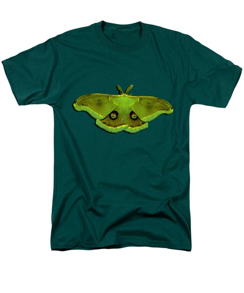 Male Moth Green And Yellow .png Men's T-Shirt  (Regular Fit) by Al Powell Photography USA