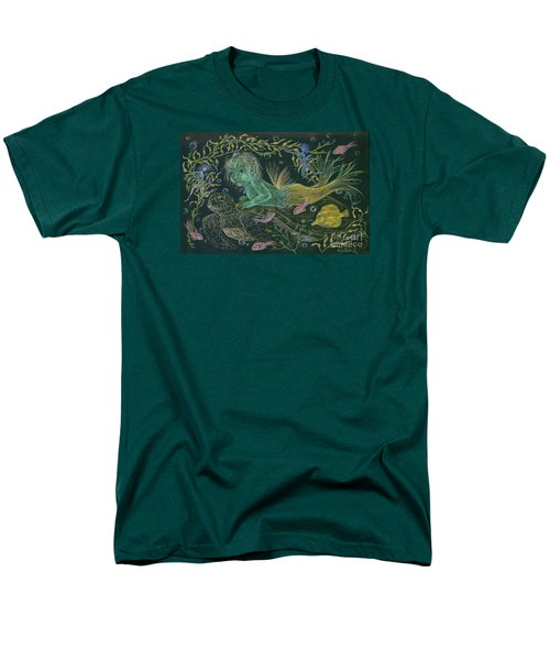 Men's T-Shirt  (Regular Fit) featuring the drawing Merbaby Green by Dawn Fairies