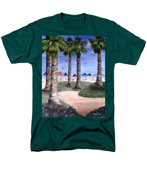 Mike's Hermosa Beach Men's T-Shirt  (Regular Fit) by Jamie Frier
