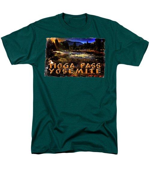 Mine Creek Between Lakes Ellery And Tioga Men's T-Shirt  (Regular Fit) by Roger Passman