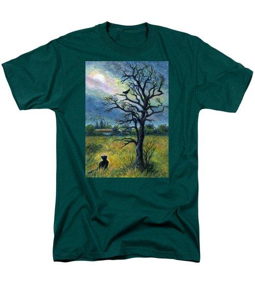 Moonlight Prowl Men's T-Shirt  (Regular Fit) by Retta Stephenson
