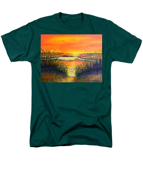 Men's T-Shirt  (Regular Fit) featuring the painting Morning Sun by Melvin Turner