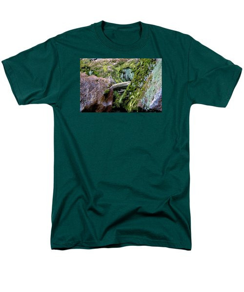 Men's T-Shirt  (Regular Fit) featuring the photograph Mossy Rocks by Phyllis Denton