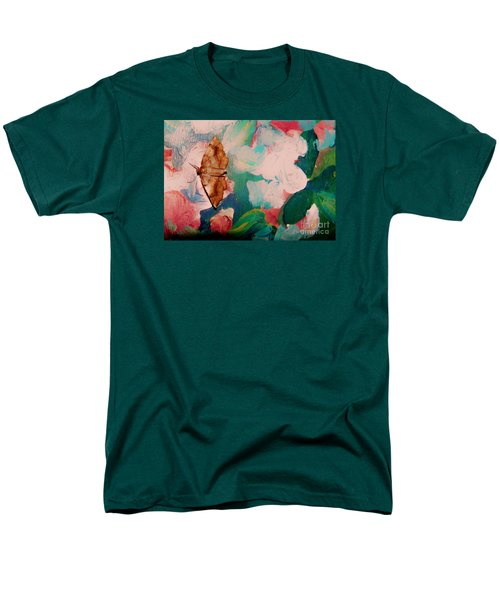 Moth On Painting Men's T-Shirt  (Regular Fit) by Shirley Moravec