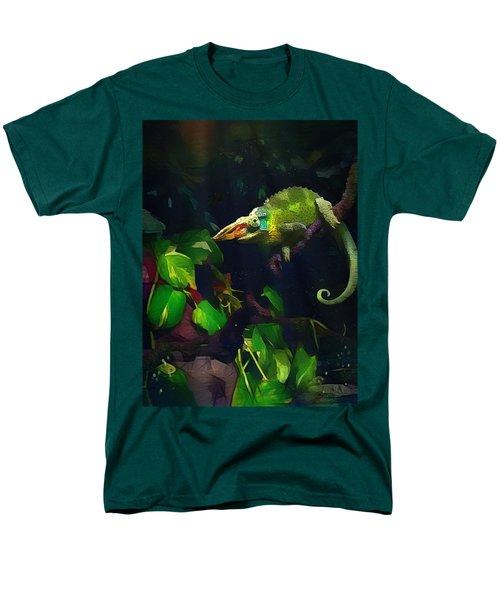 Men's T-Shirt  (Regular Fit) featuring the photograph Mr. H.c. Chameleon Esquire by Sharon Jones