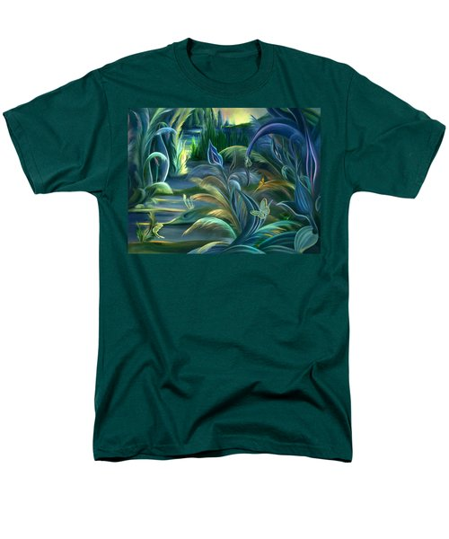 Mural  Insects Of Enchanted Stream Men's T-Shirt  (Regular Fit) by Nancy Griswold
