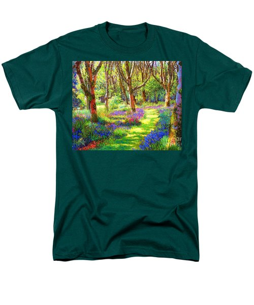 Men's T-Shirt  (Regular Fit) featuring the painting Music Of Light, Bluebell Woods by Jane Small