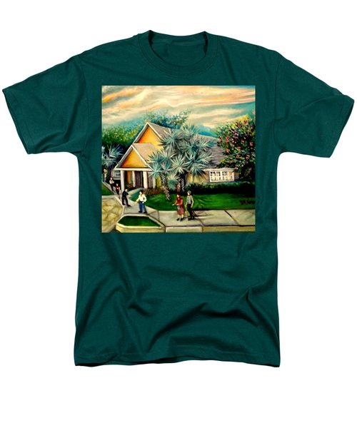 Men's T-Shirt  (Regular Fit) featuring the painting My Church by Yolanda Rodriguez