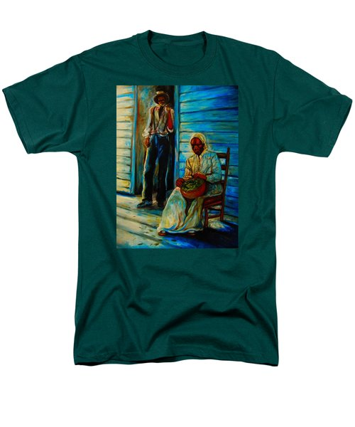 Men's T-Shirt  (Regular Fit) featuring the painting My Mom by Emery Franklin