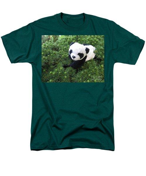 Men's T-Shirt  (Regular Fit) featuring the photograph My Soft Green Bed by Ausra Huntington nee Paulauskaite