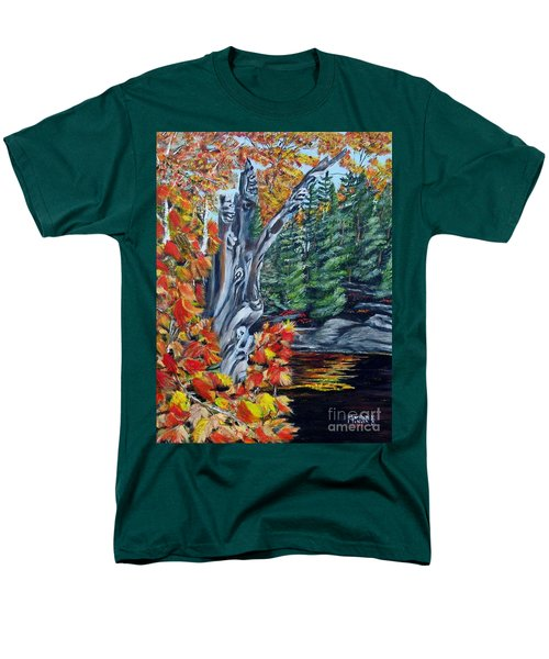 Men's T-Shirt  (Regular Fit) featuring the painting Natures Faces by Marilyn  McNish