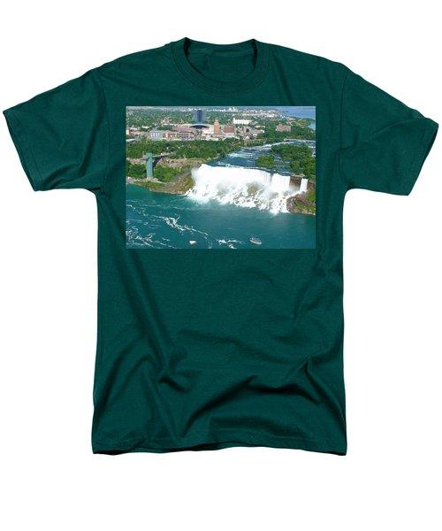Men's T-Shirt  (Regular Fit) featuring the photograph Niagara American And Bridal Veil Falls  by Charles Kraus