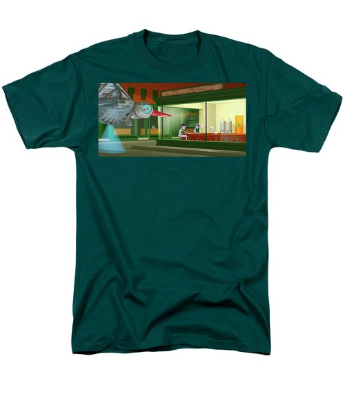 Men's T-Shirt  (Regular Fit) featuring the photograph Nighthawks Invasion by Peter J Sucy